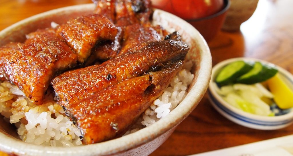 japanese cooked eel dish